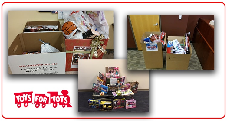 toys for tots donation - December 2017