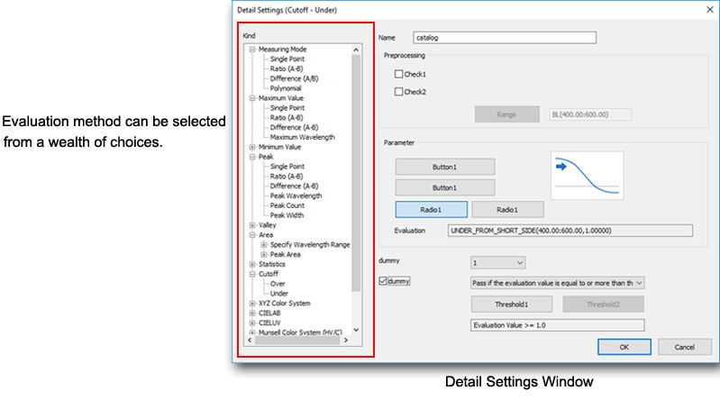 Detail Settings Window